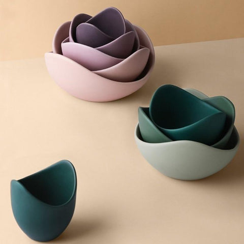 3-pc-green-ceramic-stackable-bowls-cereal-bowls