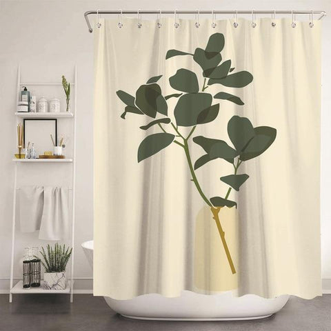 unique-floral-cute-shower-curtain-with-green-plant-graphic-design