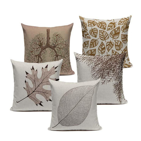 brown-leaf-throw-pillow-covers