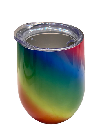 STAINLESS STEEL COFFEE CUP - RAINBOW
