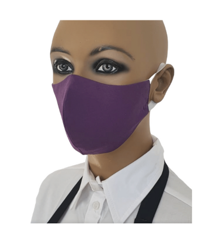 Reusable 100% cotton face mask - Purple Large