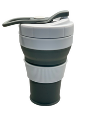 SILICONE COFFEE CUP 450ml Grey
