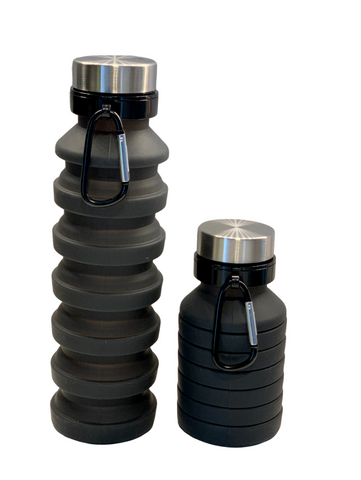COLLAPSIBLE SILICONE BOTTLE - BLACK