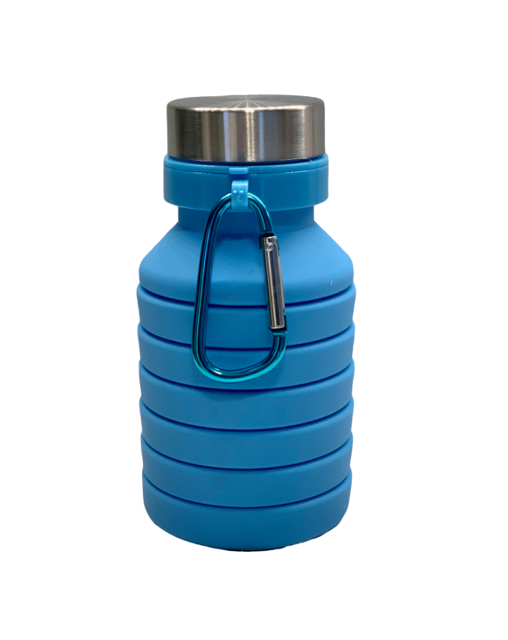 COLLAPSIBLE SILICONE BOTTLE - BLUE