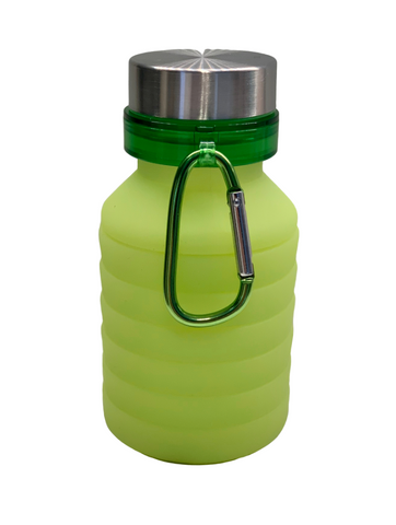 COLLAPSIBLE SILICONE BOTTLE - GREEN