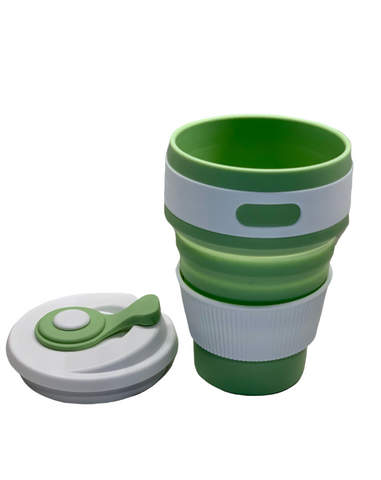 SILICONE COFFEE CUP GREEN 350ml
