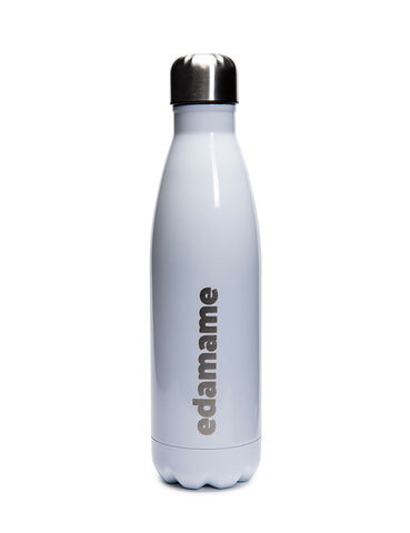 Edamame White Stainless Steel Water Bottle