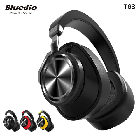 Bluedio T6S Noisecanceling Headphones (Wireless Bluetooth)