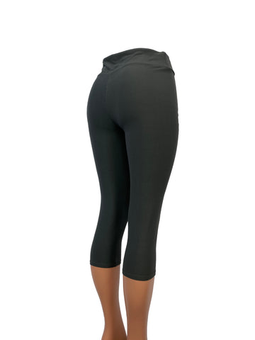 Solid Charcoal Gray Capris