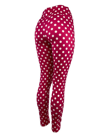 Deep Pink & White Polka Dots