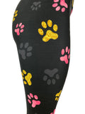 Pink, Yellow & Gray Paw Prints