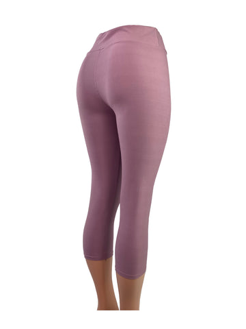 Dusty Pink Capri Leggings