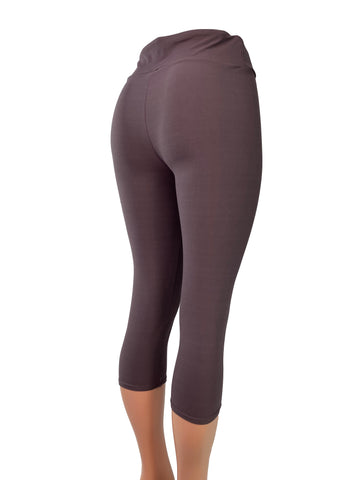 Dusty Deep Purple Capri Leggings