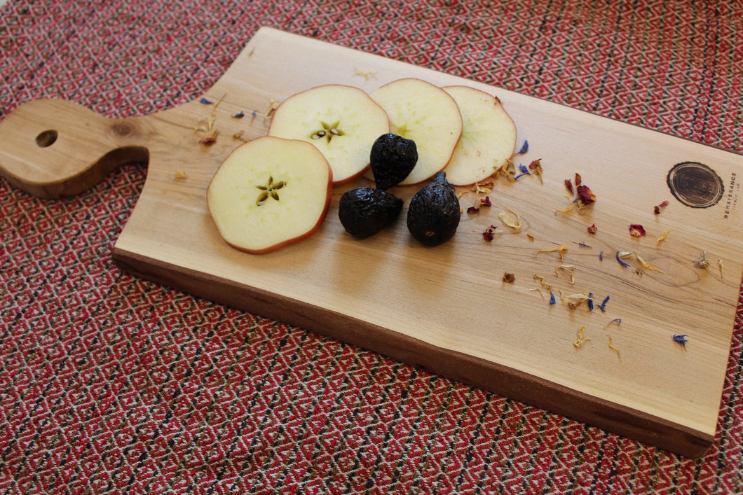 Live-Edge Maple Cutting Board (Paddle)
