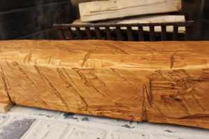Hand-Hewn Mantel - Cedar with Pine Stain #002