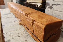 Load image into Gallery viewer, Hand-Hewn Mantel - Cedar with Pine Stain #002