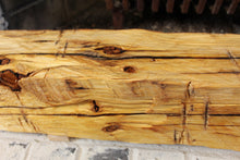 Load image into Gallery viewer, Hand-Hewn Dressed Mantel - Pine with Boiled Linseed Oil #003