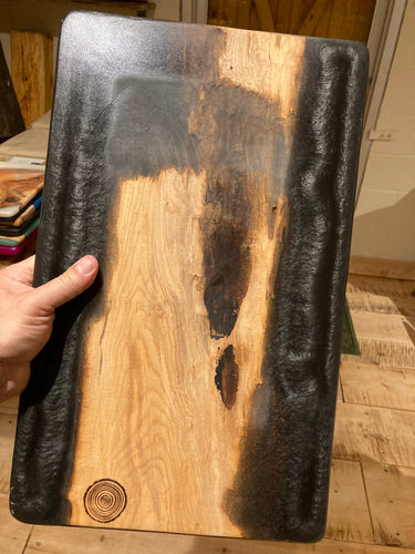 Charcoal Resin and Spalted Maple Charcuterie Board