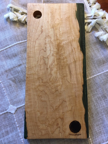 Birdseye Maple and Jade Resin Cutting Board 2 - Acadia Collection