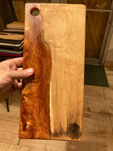 Copper Resin and Figured Maple Cutting Board #2