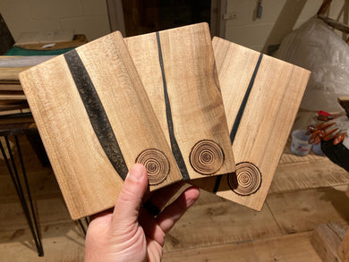 Maple and Black Resin Baby Cheese Boards