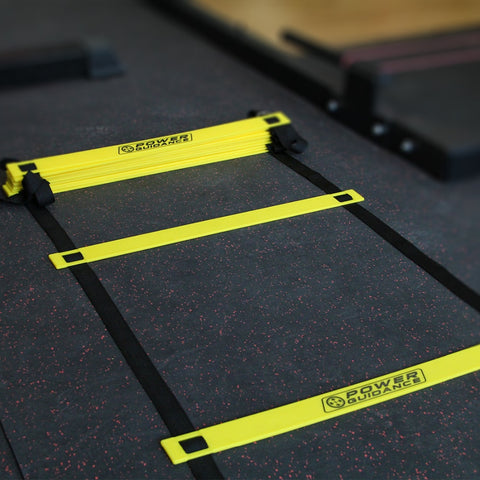 Agility Ladder (5.8M/19Ft) - with 12 Heavy Duty Plastic Rungs,Ground Stakes & Carry Bag