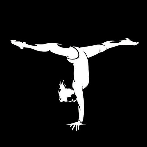 Image of Gymnast Vinyl Silhouette Sticker