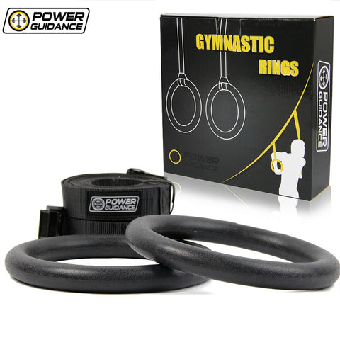 Adjustable Portable Gymnastic Rings and Extra Wide Straps