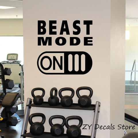 Beast Mode On Vinyl Wall Sticker