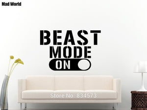 'Beast Mode On' Wall Decal