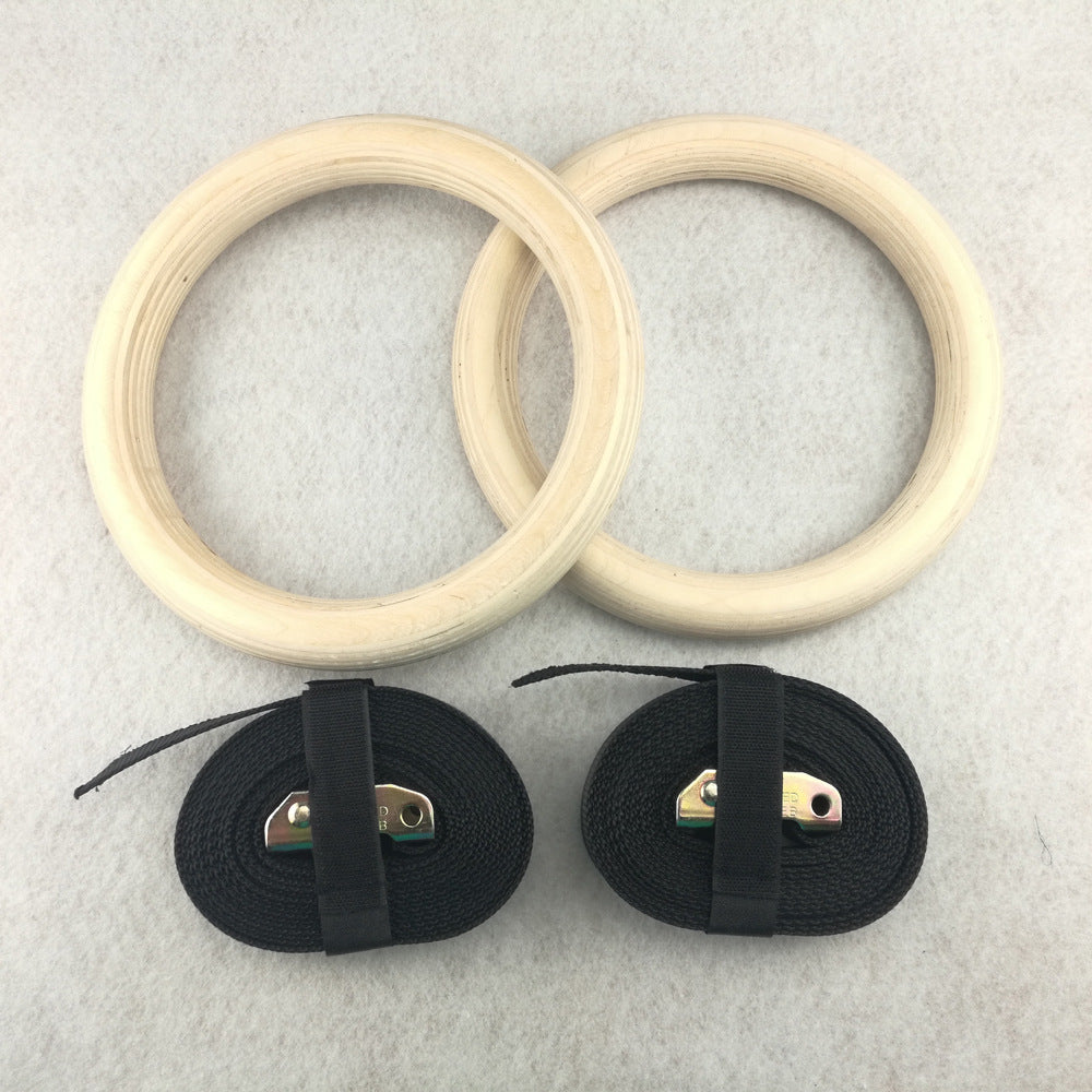 1 Pair Professional Exercise Gymnastics Rings Wooden 28mm Or 30mm