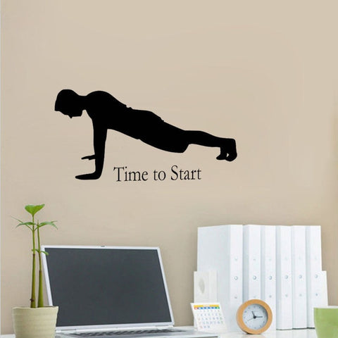 "Image of ""Time To Start"" Vinyl Wall Quote Sticker"