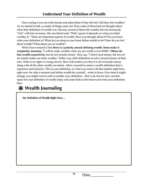 Effortless Wealth Workbook: A Journal & Coloring Book Experience For Developing Your Wealth Consciousness