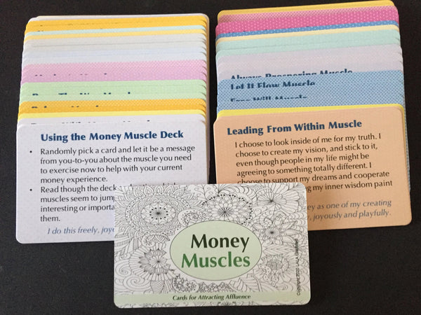 Money Muscle Card Deck - Building the mental muscles for attracting affluence