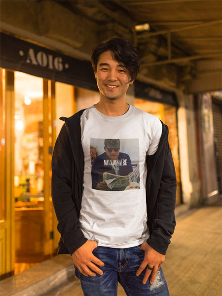 happy-asian-man-wearing-a-round-neck-tshirt-template-while-in-the-street Millionaire Paris