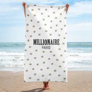 Emoji Money with Wings Beach Towel - Millionaire Paris
