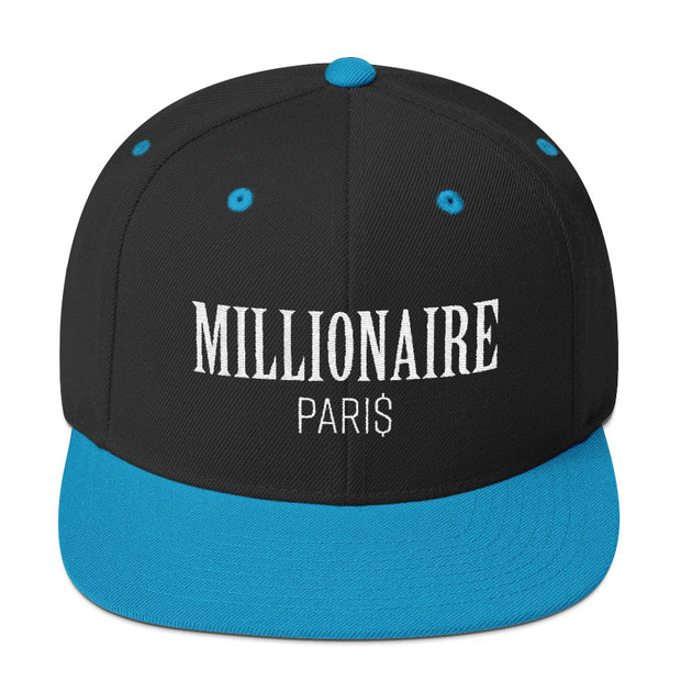Snapback Hat Black and Blue - Snapback Cap - Millionaire Paris