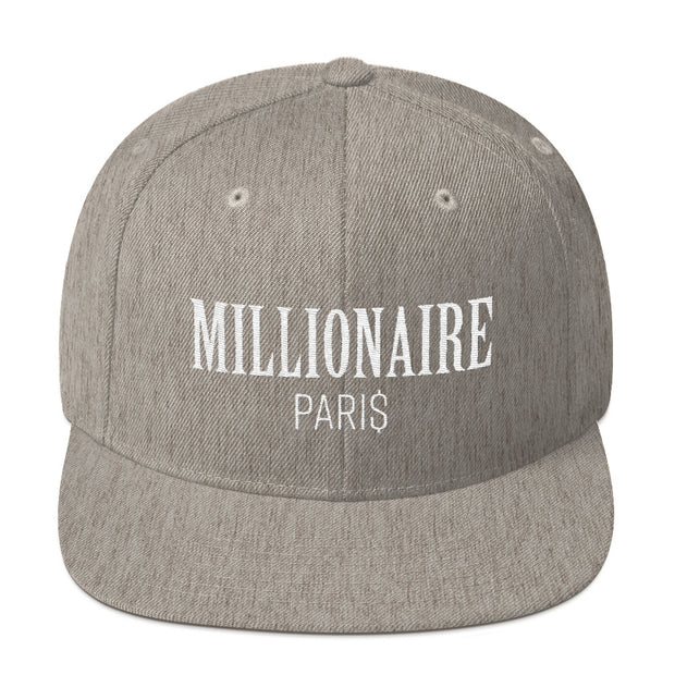 Snapback Hat Heather Grey - Snapback Cap - Millionaire Paris