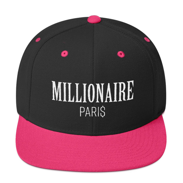 Snapback Hat Black and Pink - Snapback Cap - Millionaire Paris