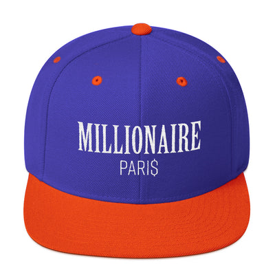 Snapback Hat Royal Blue and Orange - Snapback Cap - Millionaire Paris