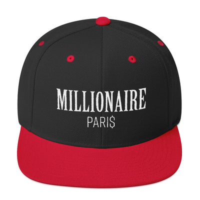 Snapback Hat Black and Red - Snapback Cap - Millionaire Paris