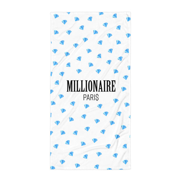 Emoji Diamond Blue Beach Towel - Millionaire Paris