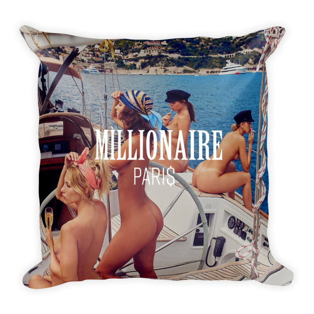Yacht Sailing Ship Girls - Pillow - Millionaire Paris
