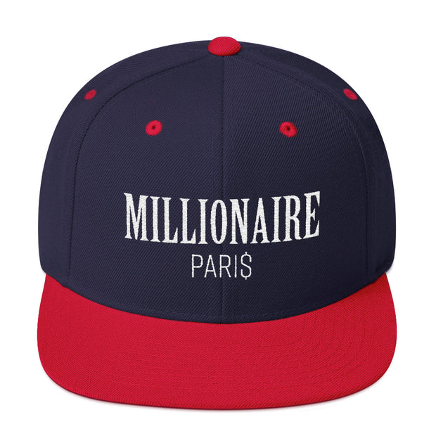 Snapback Hat Navy Blue and Red - Snapback Cap - Millionaire Paris