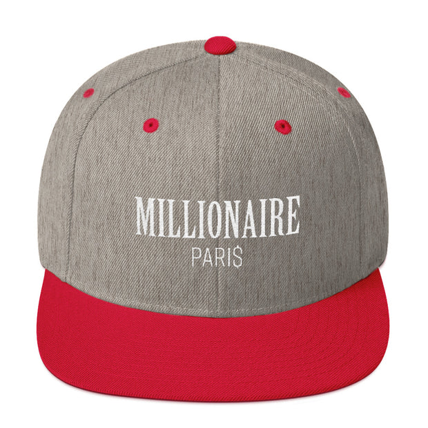 Snapback Hat Heather Grey and Red - Snapback Cap - Millionaire Paris