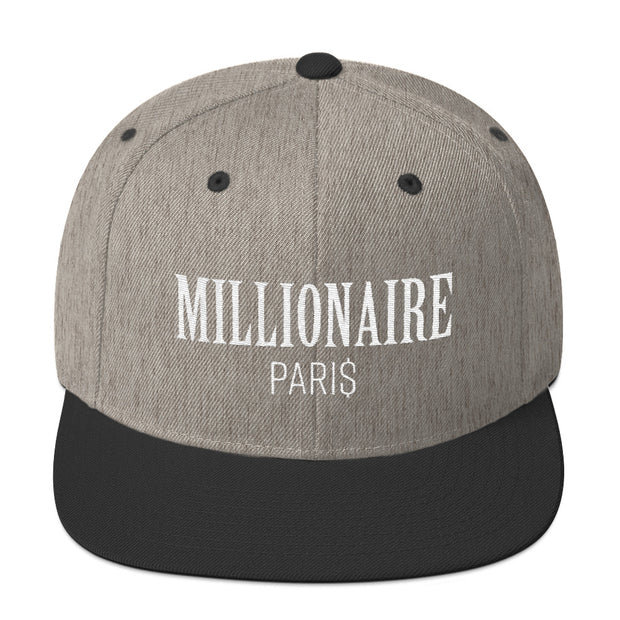 Snapback Hat Heather and Black - Snapback Cap - Millionaire Paris