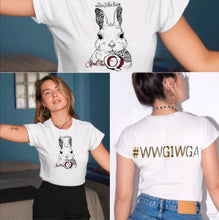 Load image into Gallery viewer, Follow The White Rabbit QAnon Tee