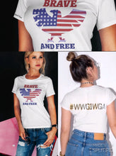 Load image into Gallery viewer, Brave & Free American Eagle Flag Tee