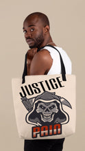 Load image into Gallery viewer, Justice Pain Tote Bag
