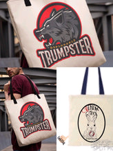 Load image into Gallery viewer, Deplorable Trumpster Wolf Tote Bag